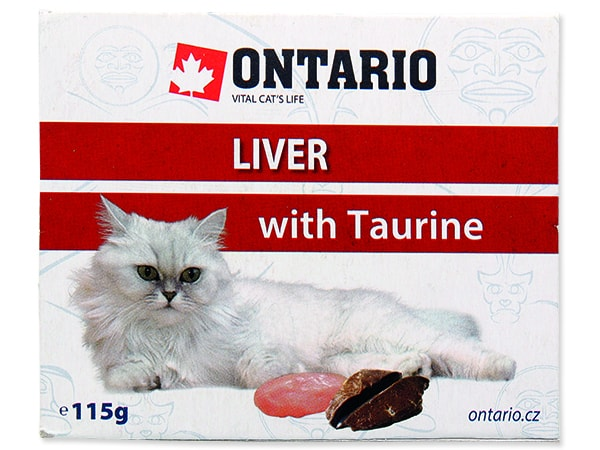 Vanička ONTARIO Cat Liver with Taurine 115g